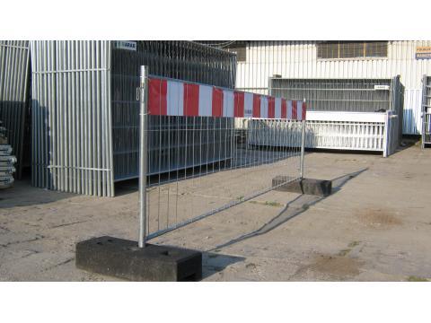 Ogrodzenie Ażurowe A100 z pasem ostrzegawczym