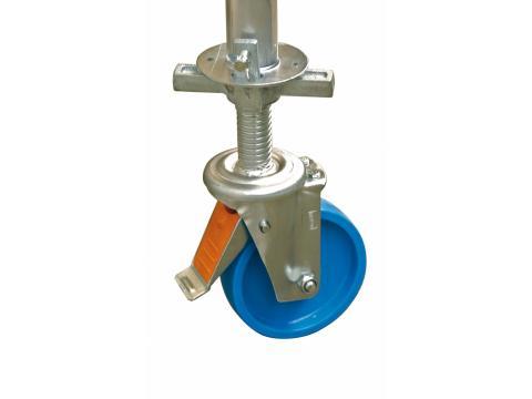Zestaw rolek jezdnych fi 150 mm z regulacją wysokości